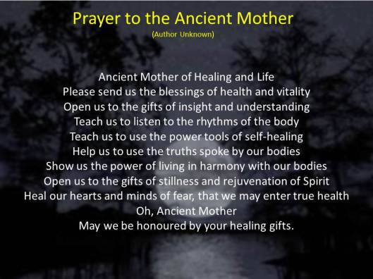 Prayer to the Ancient Mother