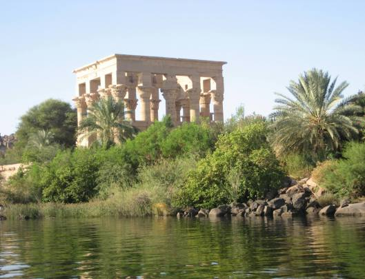 * Philae Temple, along River Nile : dedicated to the worship of Goddess Isis
