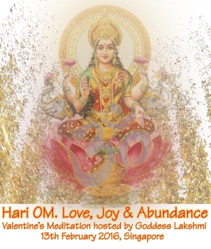 "Valentine's Meditation: ""Hari OM  Love, Joy & Abundance"